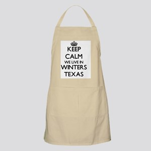Keep calm we live in Winters Texas Apron