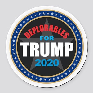 Deplorables for Trump 2020 Round Car Magnet