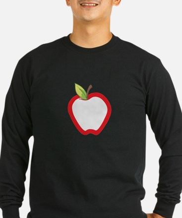 APPLE APPLIQUE Long Sleeve T-Shirt