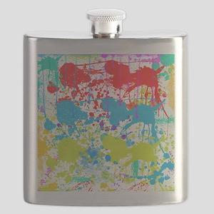 Paint Splatter Flask