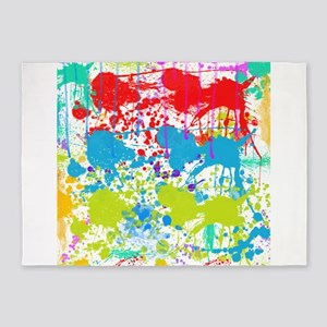 Paint Splatter 5'x7'Area Rug