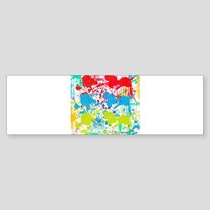Paint Splatter Bumper Sticker