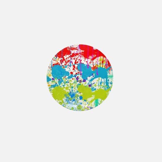 Paint Splatter Mini Button