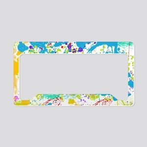 Paint Splatter License Plate Holder