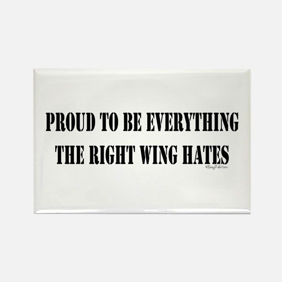 Everything Right Wing Hates Rectangle Magnet