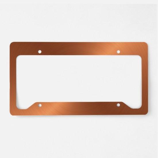 10x10_apparel-Copper License Plate Holder