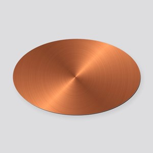 10x10_apparel-Copper Oval Car Magnet