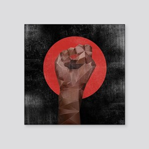 "Black Herstory Black Square Sticker 3"" x 3"""