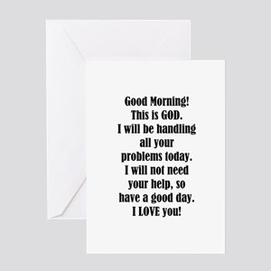 Good Morning from GOD Greeting Cards