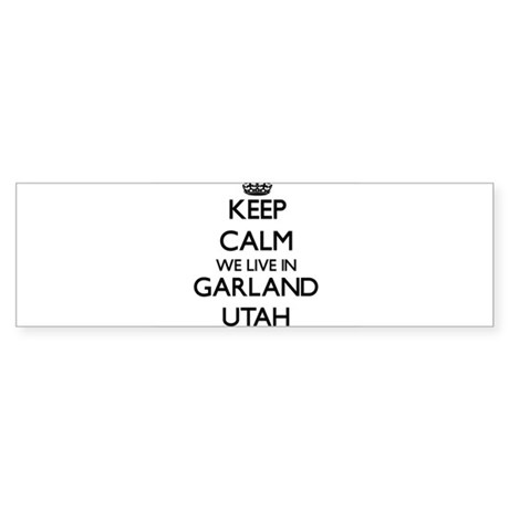 Garland Map Stickers CafePress