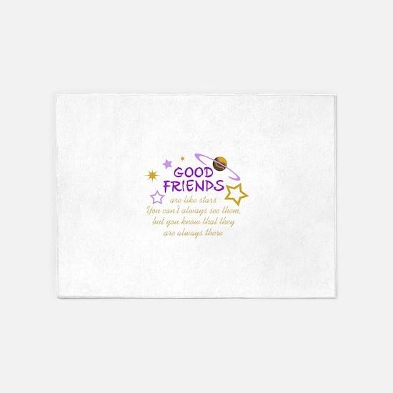 GOOD FRIENDS 5'x7'Area Rug
