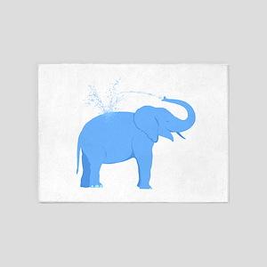 Jolly Blue Elephant 5'x7'Area Rug