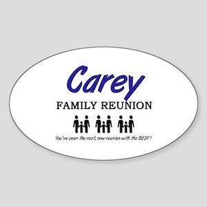 Carey Family Reunion Oval Sticker