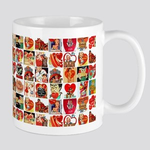 vintage valentines day cards Mugs