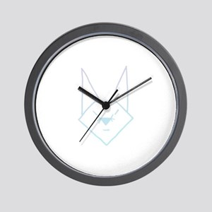 Blue Anime Rabbit Wall Clock