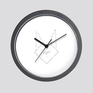 Mint Anime Rabbit Wall Clock
