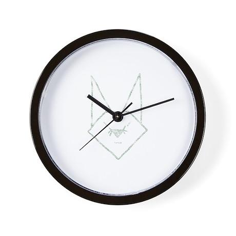 Mint Anime Rabbit Wall Clock