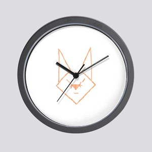 Peach Anime Rabbit Wall Clock