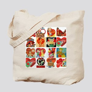 vintage valentines day cards feb Tote Bag