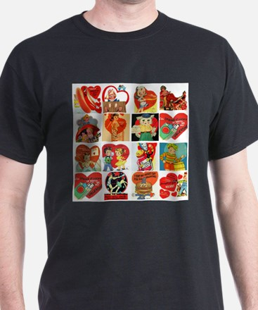 vintage valentines day cards feb T-Shirt