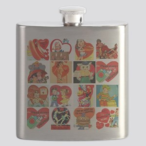 vintage valentines day cards feb Flask