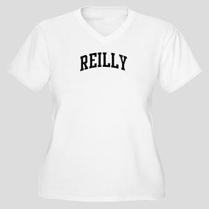 REILLY (curve-black) Women's Plus Size V-Neck T-Sh