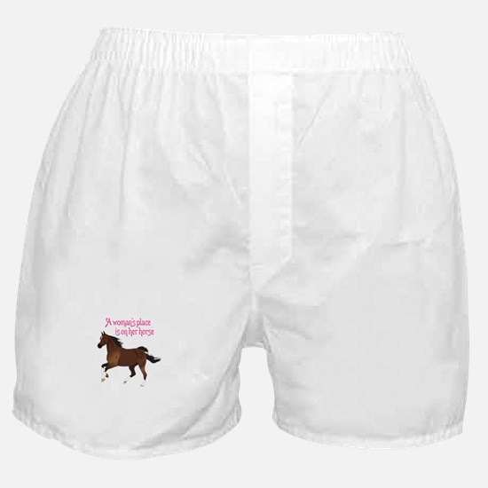 A WOMANS PLACE Boxer Shorts