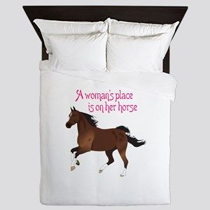 A WOMANS PLACE Queen Duvet