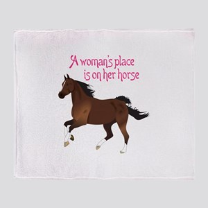 A WOMANS PLACE Throw Blanket