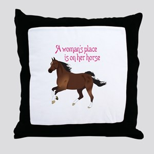 A WOMANS PLACE Throw Pillow
