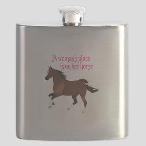 A WOMANS PLACE Flask
