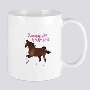 A WOMANS PLACE Mugs