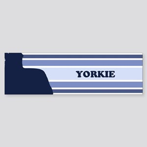 Yorkie (retro-blue) Bumper Sticker