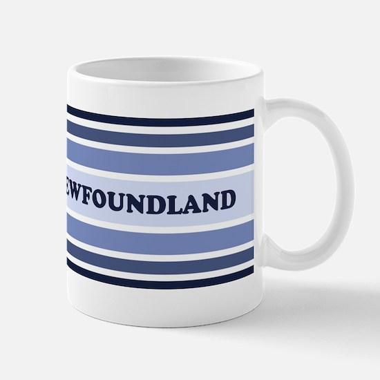 Newfoundland (retro-blue) Mug