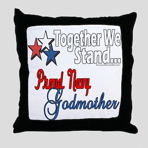 Navy Godmother Throw Pillow