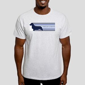 Wirehair Dachshund (retro-blu Light T-Shirt