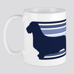 Wirehair Dachshund (retro-blu Mug