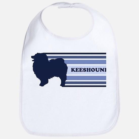 Keeshound (retro-blue) Bib