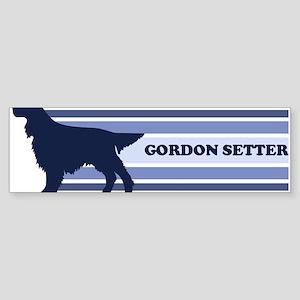 Gordon Setter (retro-blue) Bumper Sticker