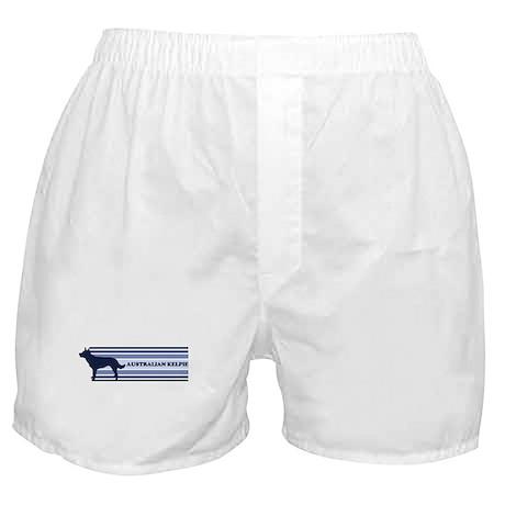 Australian Kelpie (retro-blue Boxer Shorts