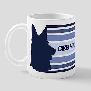 German Shepherd (retro-blue) Mug