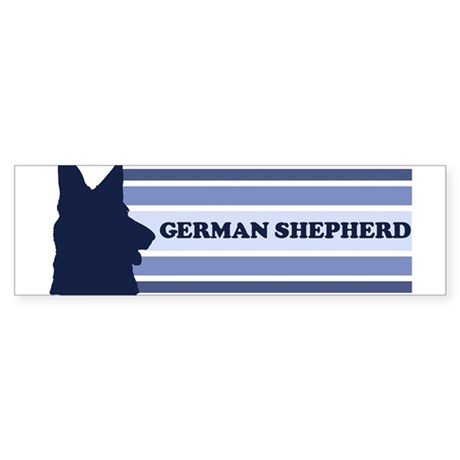 German Shepherd (retro-blue) Bumper Sticker