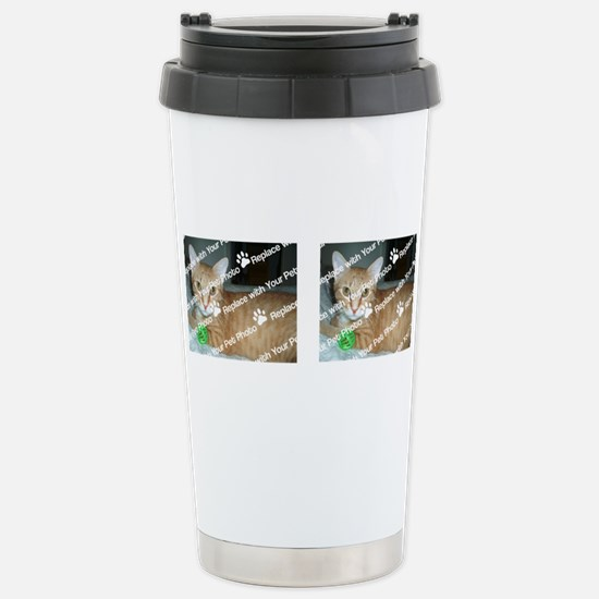 CUSTOMIZE Add 2 Photos Stainless Steel Travel Mug