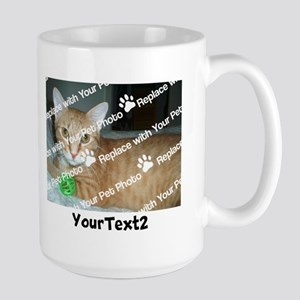 CUSTOMIZE Add 2 Photos 2 Texts Large Mug