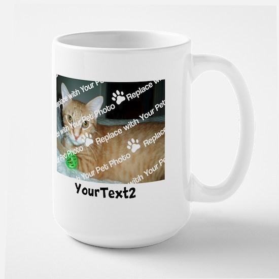 CUSTOMIZE Add 2 Photos 2 Texts Large Mug