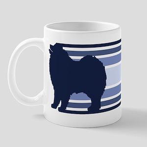 Samoyed (retro-blue) Mug