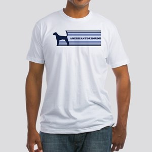 American Fox Hound (retro-blu Fitted T-Shirt