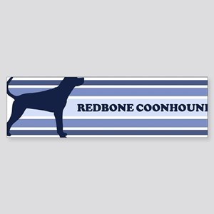 Redbone Coonhound (retro-blue Bumper Sticker