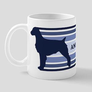 American Brittany (retro-blue Mug