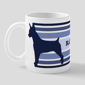 Rat Terrier (retro-blue) Mug